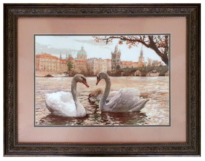 Риолис Набор для вышивания крестом Лебеди. Прага