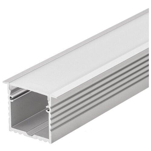 Комплект (профиль, рассеиватель) Arlight ALU-POWER-W35-2000-F ANOD+FROST серый профиль arlight alu power w35s 2000 anod frost серый
