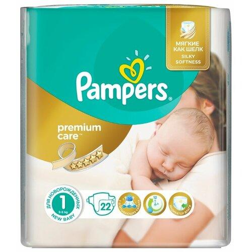 Купить Pampers подгузники Premium Care 1 (2-5 кг) 22 шт., Подгузники