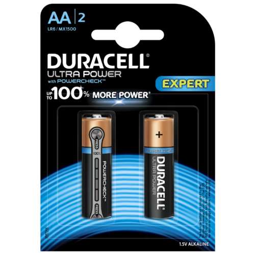 Фото - Батарейка Duracell Ultra Power AA/LR6 2 шт блистер батарейка duracell ultra power aaa lr03 12 шт блистер