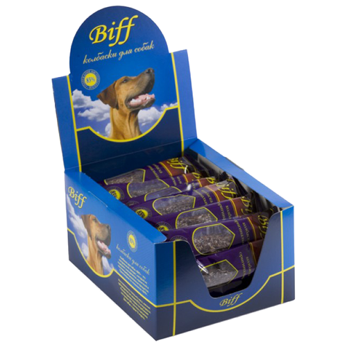 Лакомство для собак Biff Колбаска оригинальная mini, 20 г х 30 уп. 600 г (шоу бокс) недорого