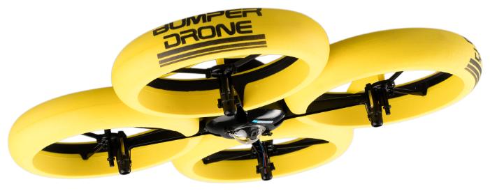 Квадрокоптер Silverlit Bumper Drone HD желтый фото 1