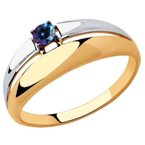 SOKOLOV Кольцо из золота с синим Swarovski Zirconia 81010446, размер 20