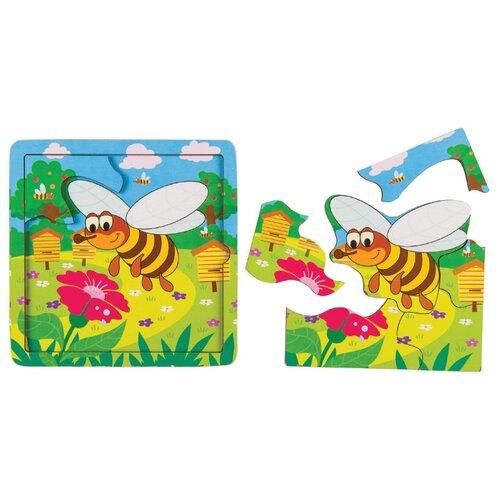 Фото - Рамка-вкладыш Step puzzle Baby Step Пчёлка (89076), 7 дет. рамка вкладыш step puzzle baby step мышонок 89069 7 дет
