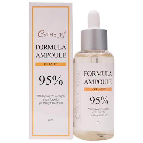 Сыворотка Esthetic House Formula Ampoule Collagen с коллагеном для лица 80 мл esthetic house formula ampoule vita c сыворотка для лица 80 мл