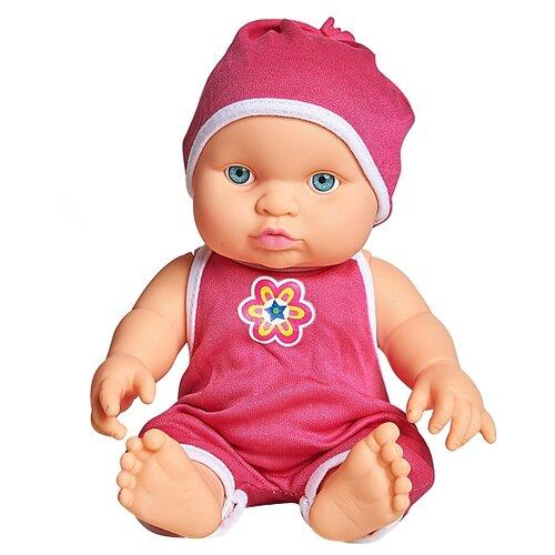 Купить Пупс Cuddly baby в красном комбинезоне, 23.5 см, XM634/1, Куклы и пупсы