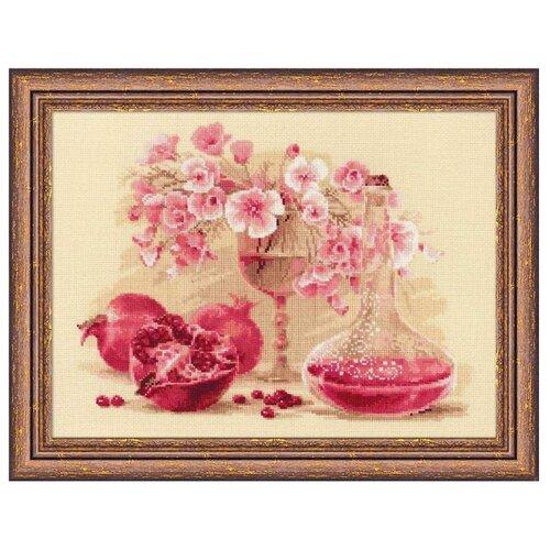 Купить Риолис Набор для вышивания крестом Розовый гранат 40 x 30 (1618), Наборы для вышивания