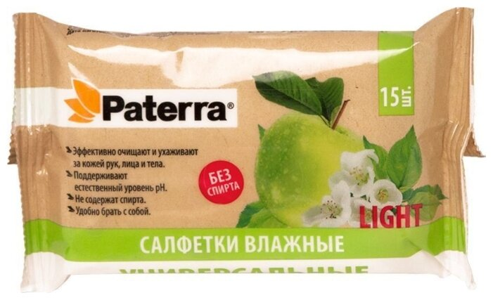 АСД Салфетки влажные универсальные 15 шт, Paterra, 104-085