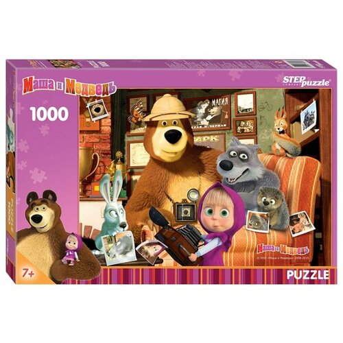 Купить Пазл Step puzzle Анимаккорд Маша и Медведь (79605), 1000 дет., Пазлы