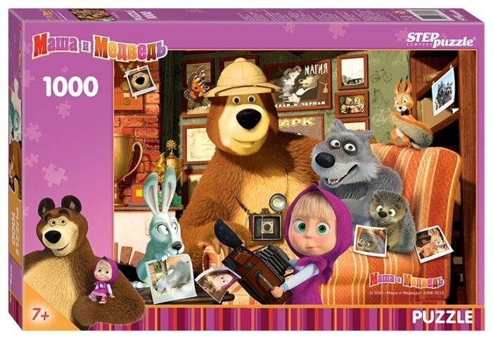 Пазл Step puzzle Анимаккорд Маша и Медведь (79605), 1000 дет.