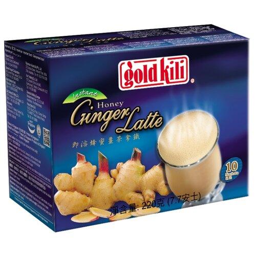 Чайный напиток Gold kili Honey ginger latte растворимый в пакетиках, 10 шт.
