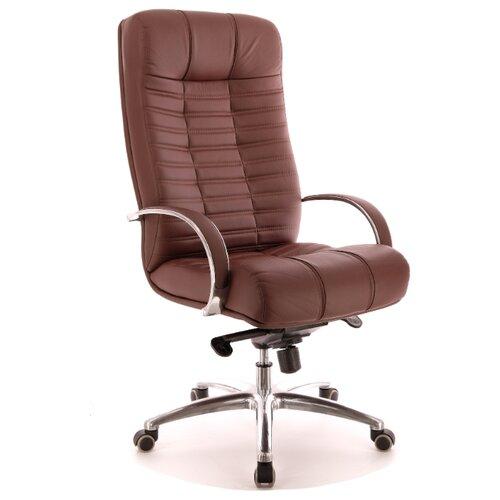 Компьютерное кресло Everprof Atlant AL M для руководителя, обивка: натуральная кожа, цвет: коричневый