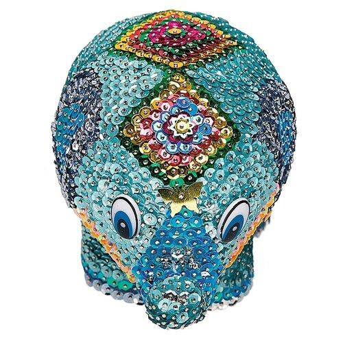 Купить Волшебная Мастерская Мозаика из пайеток 3D Слон 3D-06, Картины из пайеток
