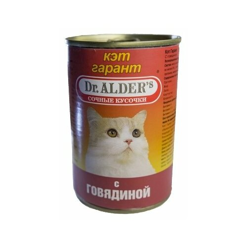 Фото - Влажный корм для кошек Dr. Alder`s для живущих в помещении 24 шт. х 400 г влажный корм для собак dr alder s ягненок 12 шт х 750 г