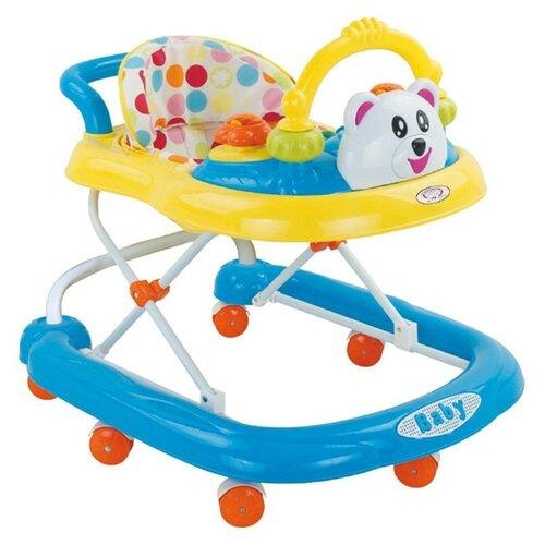 Фото - Ходунки Наша игрушка 800308 голубой/желтый растяжка наша игрушка 2203 красный желтый синий