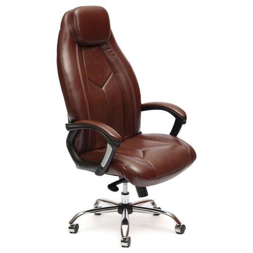 Компьютерное кресло TetChair Босс люкс для руководителя, обивка: искусственная кожа, цвет: коричневый 2 TONE