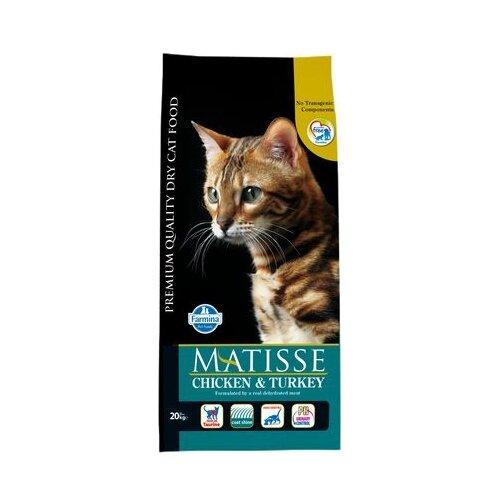 Корм для кошек Farmina Matisse с курицей, с индейкой 20 кг корм консервированный для кошек farmina matisse мусс с ягненком 85 г