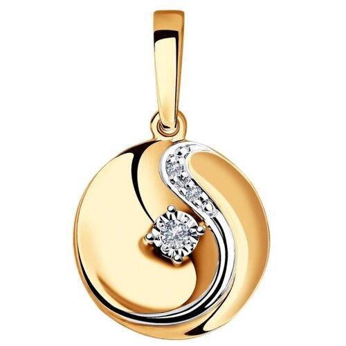 SOKOLOV Подвеска из комбинированного золота с бриллиантами 1030721