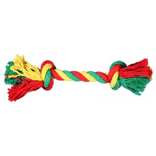 Канат для собак Joy Веревка 2 узла (2РУА00106) красный / зеленый / желтый
