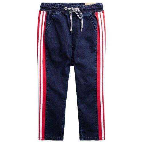 Фото - Джинсы playToday размер 116, темно-синий/белый/красный джинсы playtoday размер 104 белый синий красный зеленый