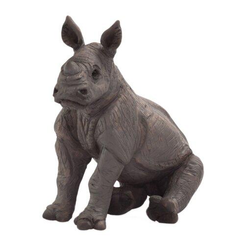 Фигурка Mojo Wildlife Детеныш носорога сидящий 387257 mojo фигурка гиппопотам детеныш
