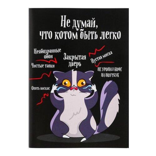 Купить Блокнот ArtFox Не думай, что котом быть легко, А6, 12 листов (4647674), Блокноты