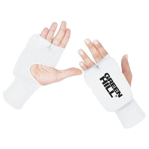 Тренировочные перчатки Green hill HP-6133 для карате белый S тренировочные перчатки green hill cobra kmc 6083 для карате синий s