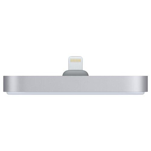 Док-станция для телефона Apple с разъёмом Lightning космический серыйДок-станции<br>