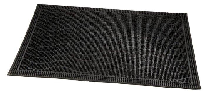 Придверный коврик RemiLing Полоски, размер: 0.6х0.4 м, черный