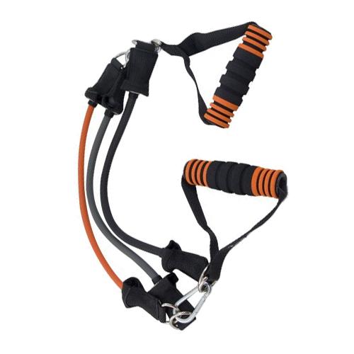 Эспандер грудной TORRES AL1007 42 см черный/оранжевый/серый эспандер бабочка torres thigh