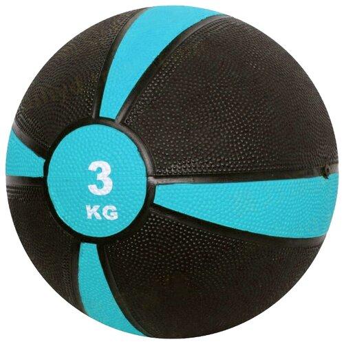 Медбол ECOS Резиновый 2874, 3 кг голубой/черныйФитболы и медболы<br>