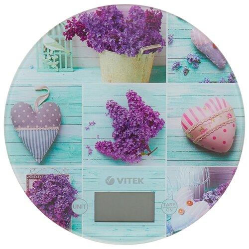 Кухонные весы VITEK VT-2426 сиреневый/зеленый весы кухонные vitek vt 8021 st серебристый