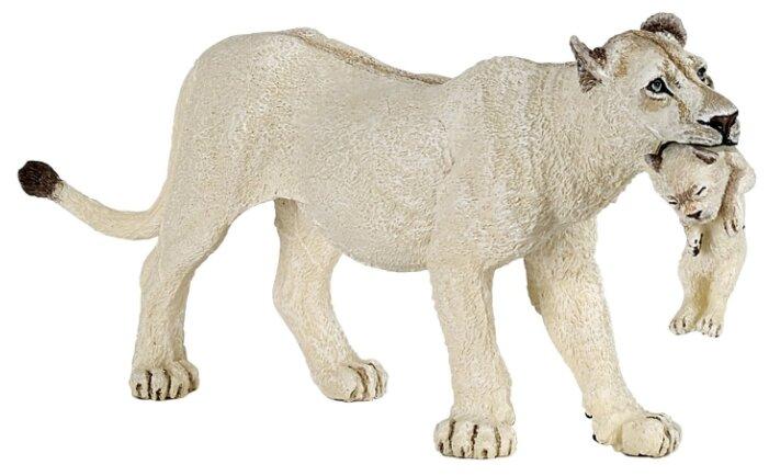Фигурка Papo Белая львица с львенком 50203