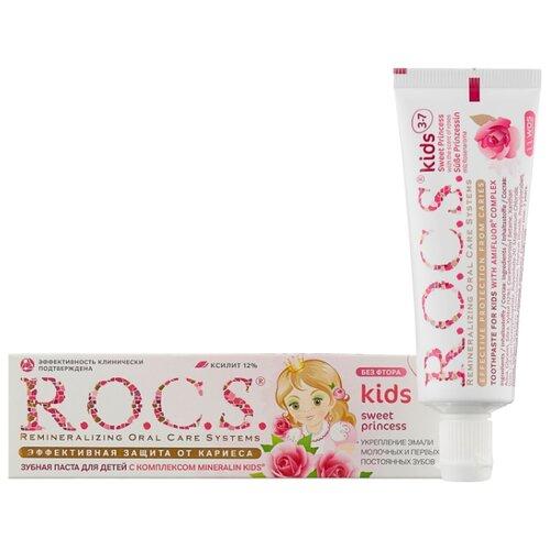 Купить Зубная паста R.O.C.S. Kids Sweet Princess 3-7 лет, 45 г, 35 мл, Гигиена полости рта