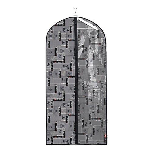 Valiant Чехол для одежды с прозрачной вставкой большой 137x60 см черный/серый
