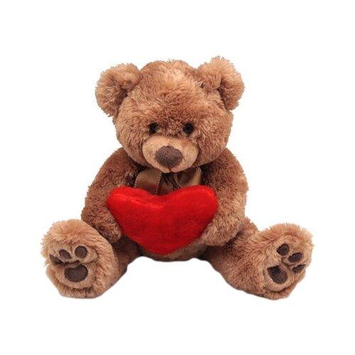 Мягкая игрушка Magic Bear Toys Мишка Браун с сердцем 30 смМягкие игрушки<br>