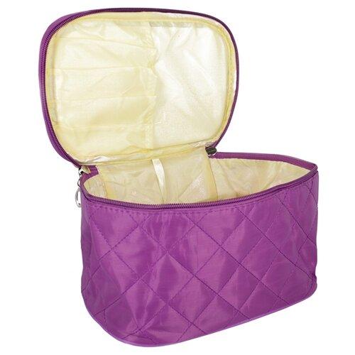 Косметичка Kingth Goldn C075, пурпурный косметичка kingth goldn c079 черный розовый