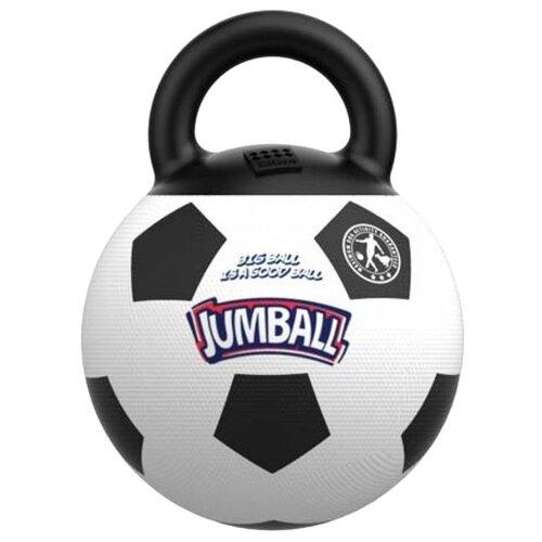 Мячик для собак GiGwi Jumball с захватом (75365) черный/белый