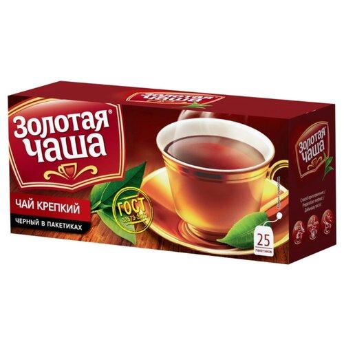 Чай черный Золотая чаша Крепкий в пакетиках, 25 шт.