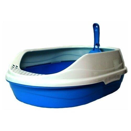 Туалет-лоток для кошек Homecat 65109/65110/65111 43х31х16 см голубой 1 шт.