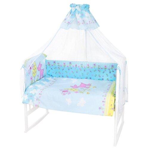 Купить Золотой Гусь комплект Little Friend 120х60 см (7 предметов) голубой, Постельное белье и комплекты