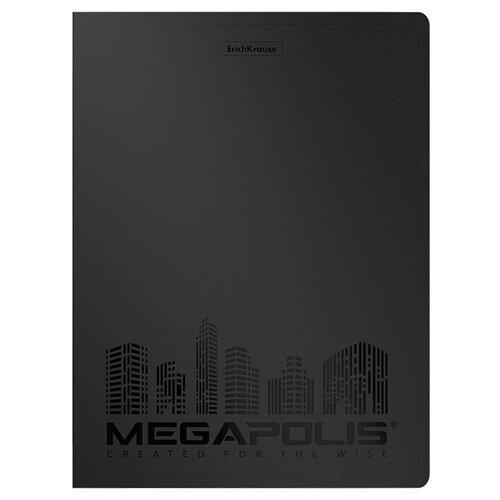 Купить ErichKrause Папка файловая с 20 карманами Megapolis A4, 4 штуки черный, Файлы и папки