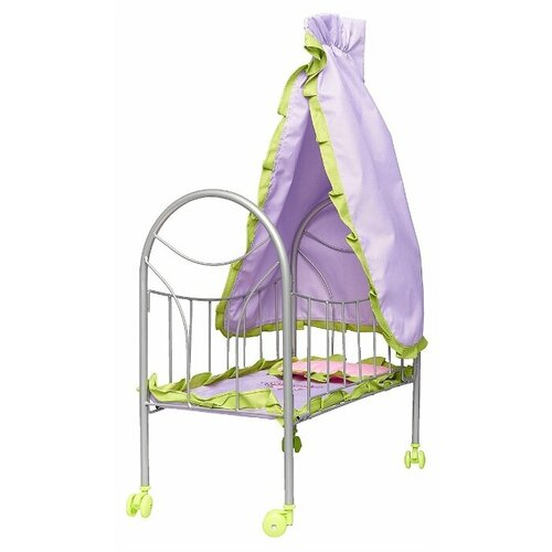 Купить Mary Poppins Кровать с балдахином Бабочки (67274) фиолетовый/зеленый, Мебель для кукол