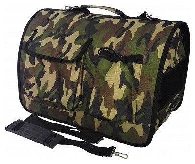 Переноска-сумка для кошек и собак LOORI Z2352 40х25х27 см хаки