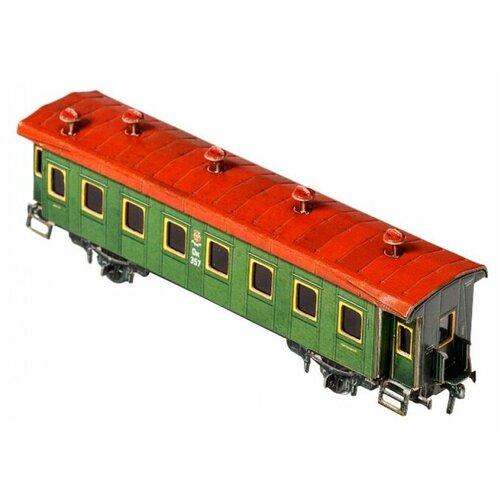 Сборная модель Умная Бумага Пассажирский двухосный вагон (287) 1:87