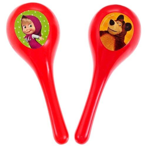Купить Играем вместе маракас Маша и Медведь B409790-R2 красный, Детские музыкальные инструменты