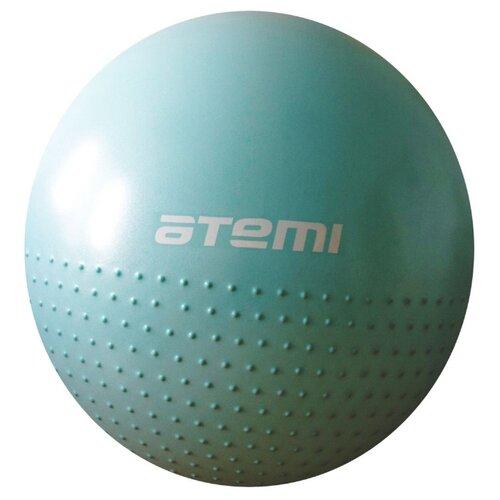 Фитбол ATEMI AGB-05-65, 65 см голубой фитбол atemi agb 01 55 55 см салатовый