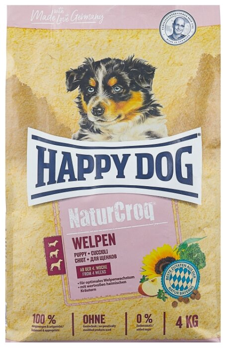Корм для щенков Happy Dog NaturCroq 4 кг