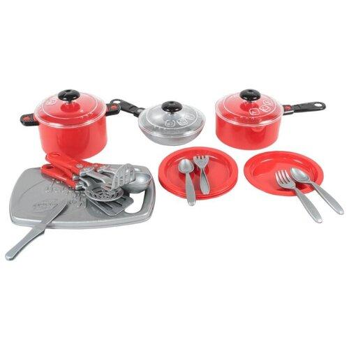 Купить Набор посуды Orion Toys Iriska 3 красный, Игрушечная еда и посуда