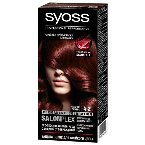 Syoss Color Стойкая крем-краска для волос, 4-2 Красное деревоКраска<br>
